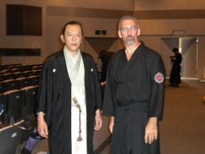 Mitsuhiro Saruta Soke Ryu Sei Ken and Salvatore Forestieri Sensei